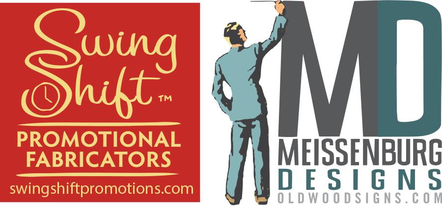 swing shift meissenburg designs logos