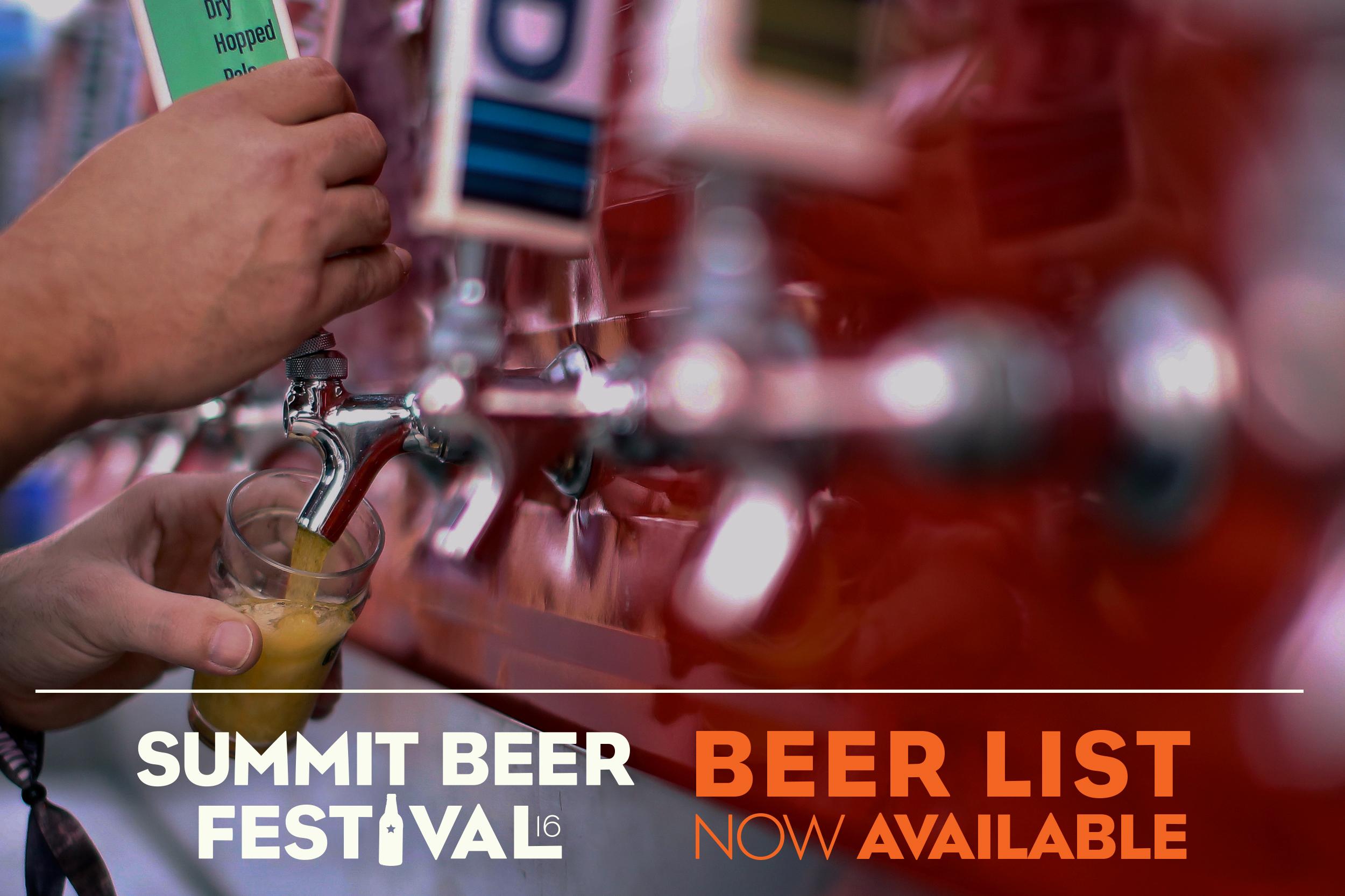 Craft Brewed Beer List