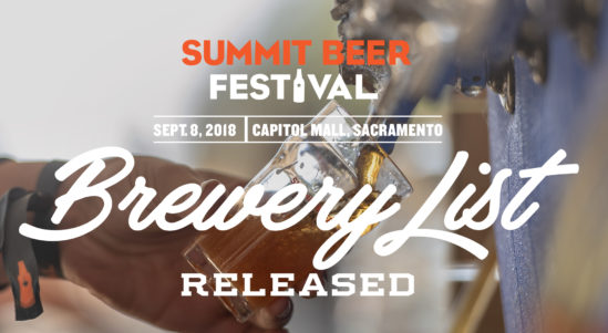 Brewery List Released for the California Craft Beer Summit Beer Festival!