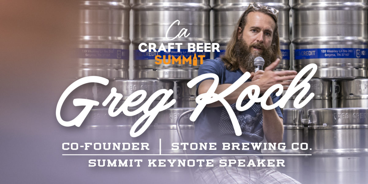 Greg Koch of Stone Brewing Announced as CA Craft Beer Summit Keynote Speaker