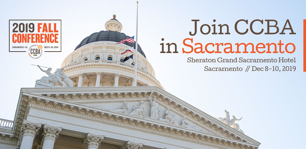 Want to Find Out What's New at the State Capitol? Join us at the CCBA Fall Conference!