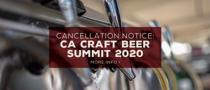CA Craft Beer Summit 2020 Cancelled